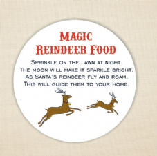 Magic Reindeer Food Labels 37mm Round Paper Label - Christmas Fun (1)